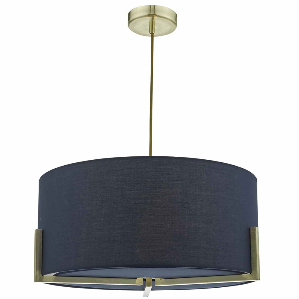 Santino 3 Light Pendant Navy